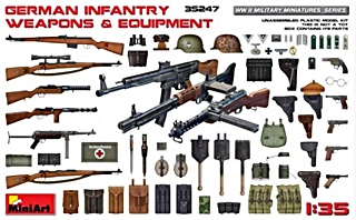ALLEMAGNE ARMEMENT ET EQUIPEMENT WWII 1/35