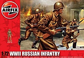 RUSSIE INFANTERIE  WWII 1/72
