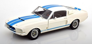 FORD MUSTANG GT500 BLANCHE ET BLEUE 1967 1/18