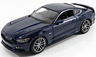 FORD MUSTANG GT 2015 BLEUE 1/18