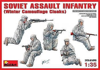RUSSIE TROUPE D'ASSAUT HIVER WWII 1/35