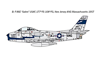 NORTH AMERICAN F86 E SABRE 1/48