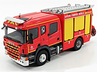 SCANIA DOUBLE CABINE FPT 57 POMPIERS 1/43