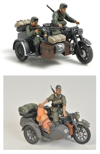 ALLEMAGNE SIDECAR R12 2 VERSIONS 1/35