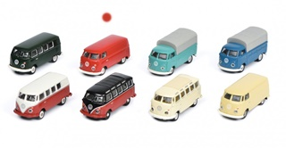 VOLKSWAGEN T1 FOURGON TOLE ROUGE 1/87
